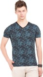 Breakbounce Printed Men's V-neck Blue T-...