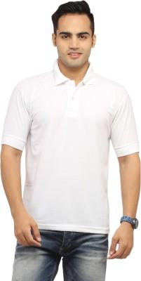 Zevog Solid Men's Polo White T-Shirt