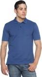 Tempt Solid Men's Polo Neck Blue T-Shirt