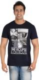 CFT Printed Men's Round Neck Dark Blue T...