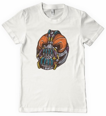 DNA Graphic Print Men's Round Neck White T-Shirt