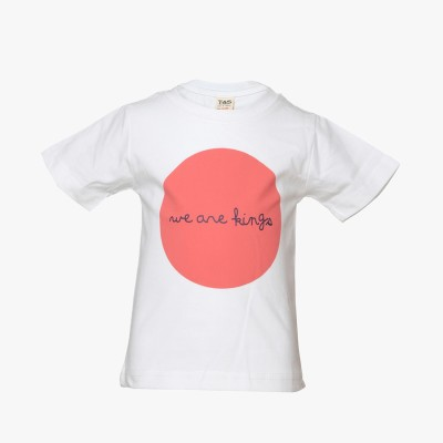 Tales & Stories Graphic Print Baby Boy's Round Neck White T-Shirt