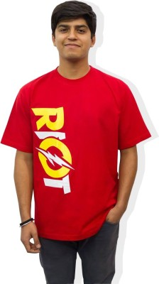 Epic Ink Graphic Print Men's Round Neck Red T-Shirt