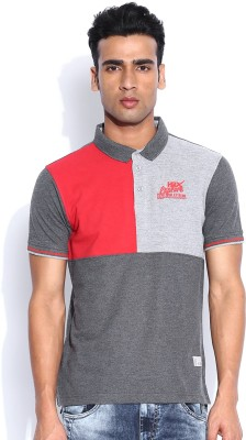 HRX by Hrithik Roshan Solid Men's Polo Neck Red T-Shirt