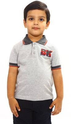 Bio Kid Solid Boy's Polo Grey T-Shirt