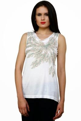 Rena Love Self Design Women's V-neck T-Shirt