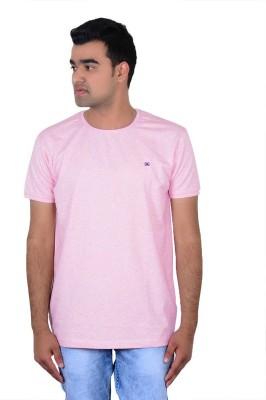 IPG Solid Men's Round Neck Pink T-Shirt