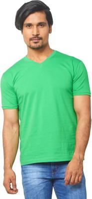THOR Solid Men's V-neck Green T-Shirt