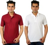 DEWY Solid Men's Polo Neck Multicolor T-...