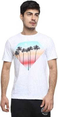 o.h.m Printed Men's Round Neck White T-Shirt