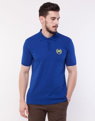 Cotton County Premium Solid Men's Polo Blue T-Shirt