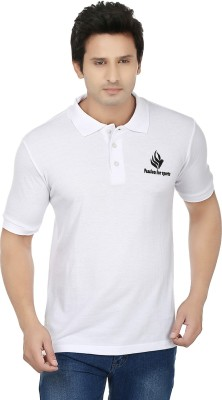 Fizzaro Solid Men's Polo White T-Shirt