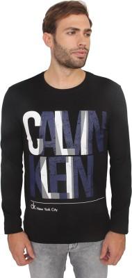 Calvin Klein Printed Men's Round Neck Black T-Shirt