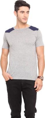 Northern Lights Solid Men's Round Neck T-Shirt