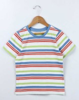 Beebay Boys Striped T Shirt(Multicolor, Pack of 1)