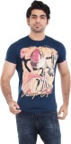 Zulements Printed Men's Round Neck Dark ...
