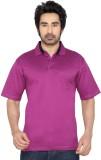 Thinc Solid Men's Polo Neck Purple T-Shi...