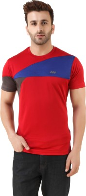 Spunk Printed Men's Round Neck Red T-Shirt
