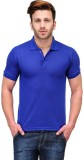 Friskers Solid Men's Polo Neck Blue T-Sh...