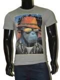 Genxtfit Printed Men's Round Neck Grey T...