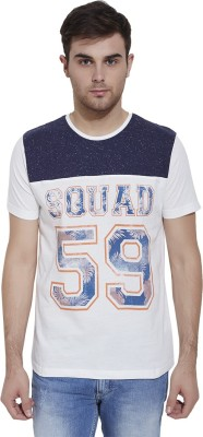 Slub By INMARK Self Design Men's Round Neck Multicolor T-Shirt