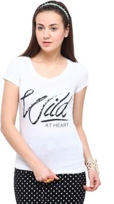Yepme Printed Women's Round Neck White T-Shirt at flipkart