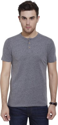 Urban Nomad By INMARK Solid Men's Henley Grey T-Shirt