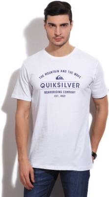 Quiksilver Printed Men's Round Neck White T-Shirt