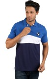 Molini Solid Men's Polo Neck Blue T-Shir...