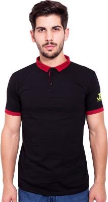 Jangoboy Solid Men's Turtle Neck Black, Maroon T-Shirt
