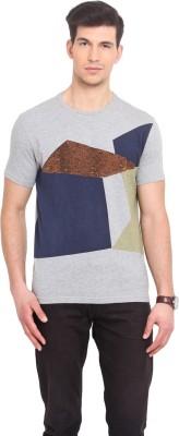 Smokestack Printed Men's Round Neck Grey T-Shirt