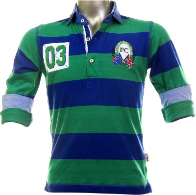 Fingerchips Striped Boy,s Polo T-Shirt