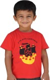 SNOWFLAKES Solid Boy's Round Neck Red T-...