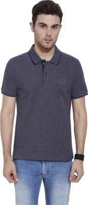 Urban Nomad By INMARK Solid Men's Polo Neck Dark Blue T-Shirt
