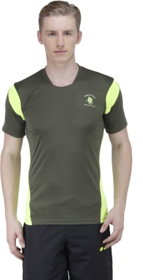 Green Wich United Polo Club Solid Men's Round Neck T-Shirt