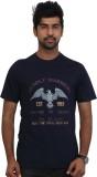 Police Printed Men's Round Neck Dark Blu...