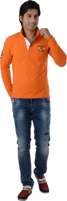 Integriti Solid Men's Polo Neck T-Shirt