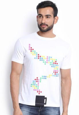 Soul Deep Skin Printed Men's Round Neck White T-Shirt