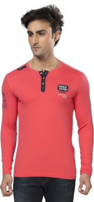 Purple Haze Printed Men's Henley T-Shirt