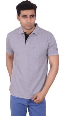 Studio Nexx Solid Men's Polo Grey T-Shirt