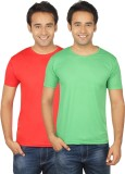 Quetzal Solid Men's Round Neck Red, Gree...