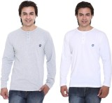 Cee-For Solid Men's Henley Grey, White T...