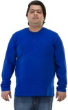 Bigbanana Solid Men's Henley Dark Blue T...
