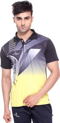Sport Sun Printed Men's Polo Neck Multicolor T-Shirt
