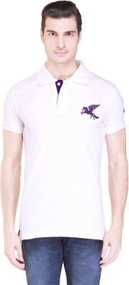 Right Shape Solid Men's Polo White T-Shirt