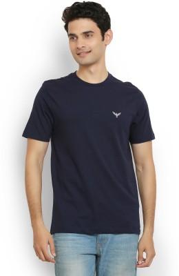 Police Solid Men's Round Neck Dark Blue T-Shirt