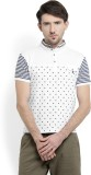 Integriti Polka Print Men's Polo Neck Wh...