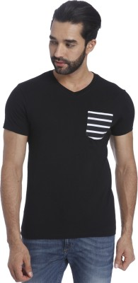 Jack & Jones Printed Mens V-neck Black T-Shirt