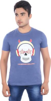 Pavitra Paapi Printed Men's Round Neck Purple T-Shirt