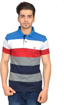 Urban Trail Striped Men's Polo Neck Multicolor T-Shirt